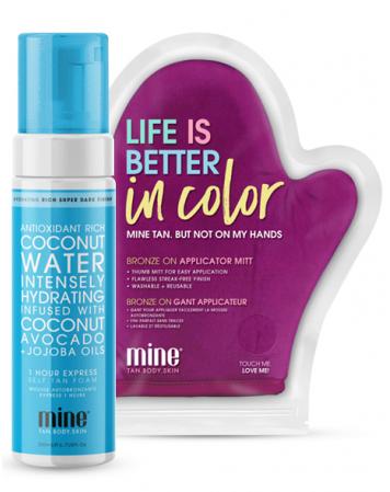 MineTan Coconut Water - Pianka Samoopalająca + Rękawica